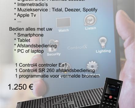 Control4 introductie pakket : Denk groot start klein