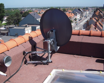Schotels Kathrein schotel boven op dak