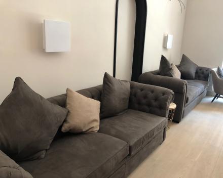 Monitor audio Soundframe 3 - realisatie in bar hotel Monarc Oostende