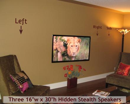 Stealt Accoustics onzichtbare luidsprekers