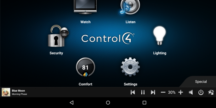 Control4 multiroom audio